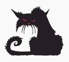 Grumpy cat, Cat Lover, Silhouette, Moggy, Black cat, Pet, Feline, Puss, Cat Woman, Pussy Kids Tee