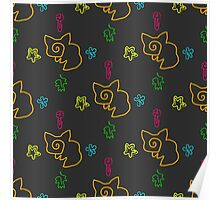 Doodle seamless pattern Back to school Poster
