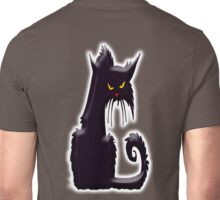 Grumpy cat, Cat Lover, Silhouette, Moggy, Black cat, Pet, Feline, Puss, Cat Woman, Pussy, on BLACK Unisex T-Shirt