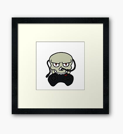 Skull Megadrive tag Framed Print