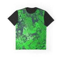 Abstract Earth - textured, blue and green, painting Graphic T-Shirt