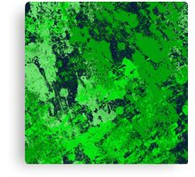Abstract Earth - textured, blue and green, painting Canvas Print