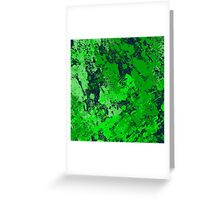 Abstract Earth - textured, blue and green, painting Greeting Card