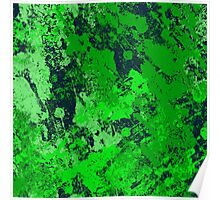Abstract Earth - textured, blue and green, painting Poster