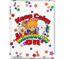Keep Calm & Rainbow On (Light) iPad Case/Skin