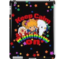 Keep Calm and Rainbow On (Dark) iPad Case/Skin