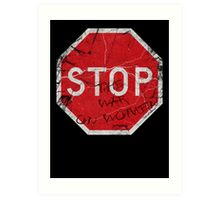 Stop the War on Women Art Print