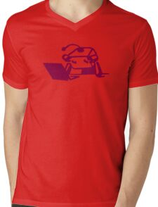 Roboter Mens V-Neck T-Shirt