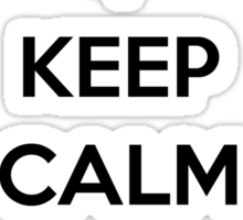 Keep Calm and Disobey Sticker