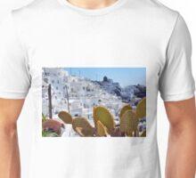 Cacti in Santorini, Greece Unisex T-Shirt