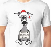 Free Christmas Kisses - Whippet Puppy Unisex T-Shirt