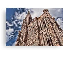 cathedrale strasbourg Canvas Print