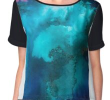 Heavenly waves, blue and turquoise Chiffon Top