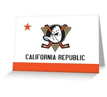 Ducks Flag Greeting Card