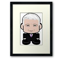 Anderson Cooper Politico'bot Toy Robot 1.0 Framed Print