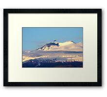 Eagle Over Mount Etna Framed Print