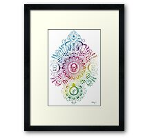 Mortis - rainbow  Framed Print