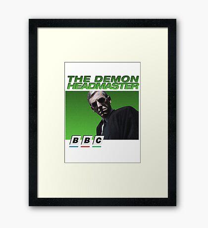 Demon Headmaster 90s BBC Framed Print