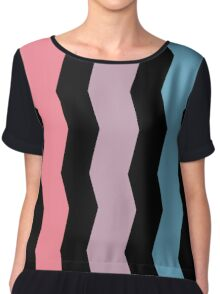 Sharp Waves Chiffon Top