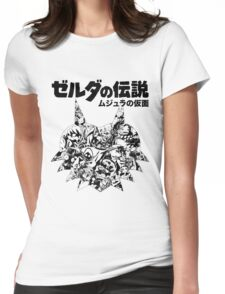 The Legend of Zelda - Majoras Mask (Japanese Classic Edition) Womens Fitted T-Shirt