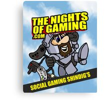 The nights of gaming classic Canvas Print
