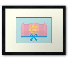 The Grand Budapest Hotel-minimal Framed Print
