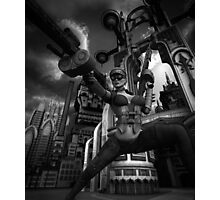 Steampunk Ursula BW Photographic Print