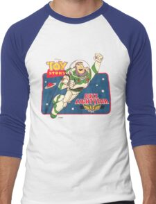 Vintage Buzz Lightyear Star Command Space Ranger   Men's Baseball ¾ T-Shirt