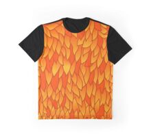 seamless pattern with autumn leaves in orange tones Graphic T-Shirt