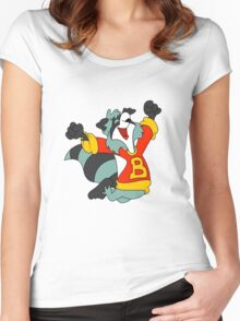 the raccoons Women's Fitted Scoop T-Shirt