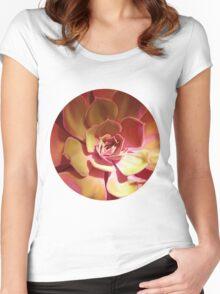 SUN SUCCULENT ( GOLDEN ) Women's Fitted Scoop T-Shirt