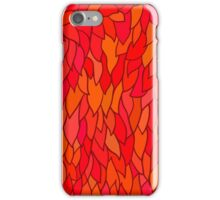 seamless pattern with autumn leaves in orange tones iPhone Case/Skin