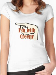 Creepy Hilarious Fun Design Women's Fitted Scoop T-Shirt