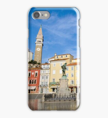 Tartini square in Piran, Slovenia iPhone Case/Skin