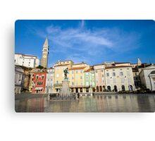 Tartini square in Piran, Slovenia Canvas Print