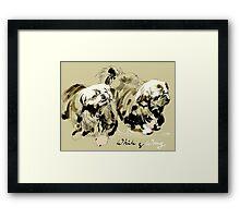 White & Wong Framed Print