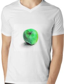 Colorful watercolor of apple Mens V-Neck T-Shirt