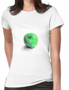 Colorful watercolor of apple Womens Fitted T-Shirt