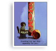 Guarding my last rolo for you.... Canvas Print