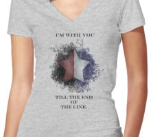 I'm with you till the end of the line Women's Fitted V-Neck T-Shirt
