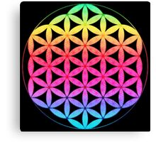 Flower of Life rainbow Canvas Print
