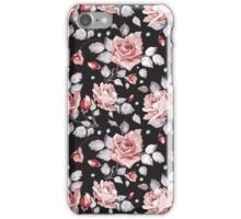 Stylish Vintage Pink Floral Pattern iPhone Case/Skin