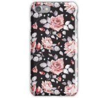 Stylish Vintage Pink Floral Pattern iPhone Case/Skin