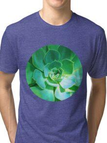 GREEN PLANT SUCCULENT Tri-blend T-Shirt