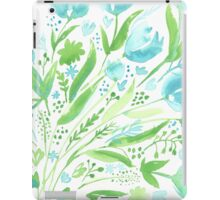 Two Tone Tulip Print iPad Case/Skin