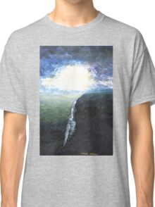 Ocean painting Blue Abstract seascape art  Classic T-Shirt