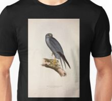 John Gould The Birds of Europe 1837 V1 V5 025 Lead Coloured Falcon Unisex T-Shirt