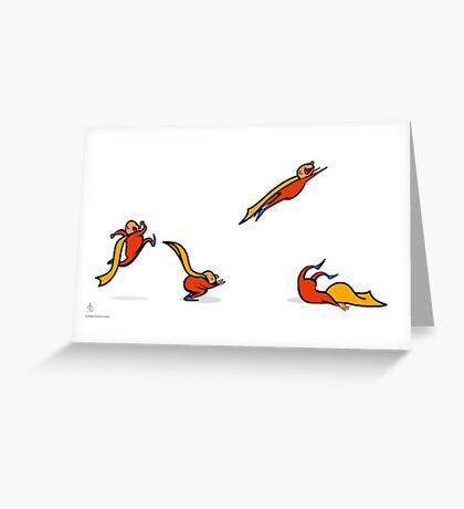 Superkid sequential art Greeting Card
