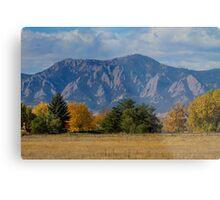 Boulder Colorado Autumn Flatiron Afternoon Metal Print
