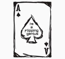 Flipping Genius - Ace of Spades One Piece - Short Sleeve